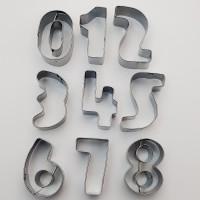 Decupatoare cifre cofetarie - 9 bucati