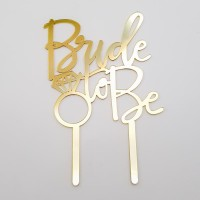 Topper pentru tort - ''Bride to be'' - auriu