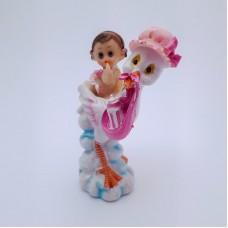 Figurina bebelus fetita cu barza