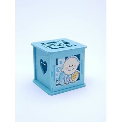 Marturie botez cub albastru