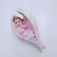 Figurina bebelus fetita in aripi