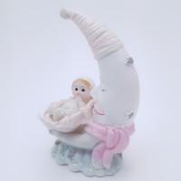 Figurina bebelus fetita cu luna