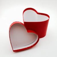 Cutie de carton - inima rosie