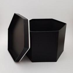 Cutie de carton - hexagonala neagra