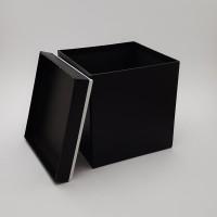 Cutie de carton - patrata neagra