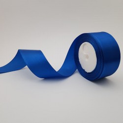Rola saten 4 cm - albastru