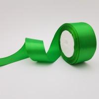 Rola saten 4 cm - verde intens