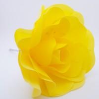 Floare spuma 20 cm - galbena