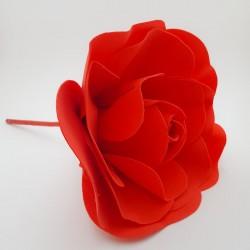 Floare spuma 20 cm - rosie