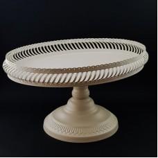Suport oval prajituri - metal