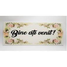 Pancarta nunta ''Bine ati venit''