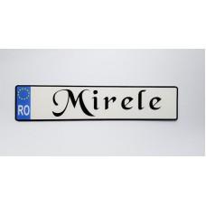 Placute de inmatriculare personalizate nunta - ''Mirele''