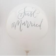 Set 10 baloane - ''just married''