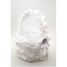 Cosulet petale nunta alb