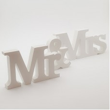 Decor din lemn ''Mr & Mrs''