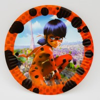 Set 10 farfurii carton - ''Lady Bug''