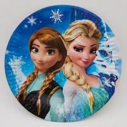 Set 10 farfurii carton - ''Elsa si Ana''