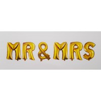 Set baloane folie '' Mr & Mrs''