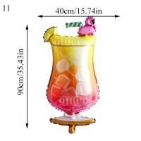 Balon folie Flamingo cocktail