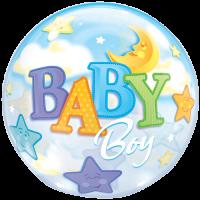 Balon folie Baby Boy Moon and Stars