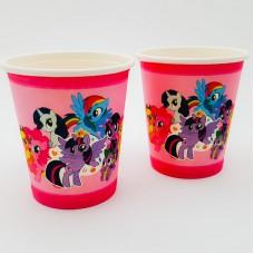 Set 10 pahare carton - ''My little pony''