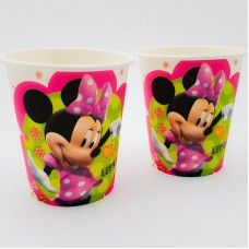 Set 10 pahare carton - ''Minnie Mouse''