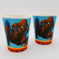 Set 10 pahare carton - ''Spiderman''