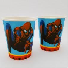 Set 10 pahare carton - ''Spiderman''