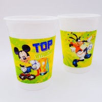 Set 8 pahare unica folosinta 200 ml - ''Mikey Mouse''