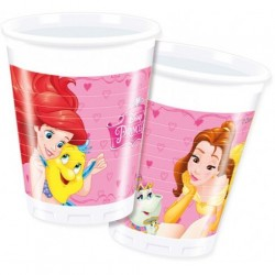 Set 8 pahare unica folosinta 200 ml - ''Princess''