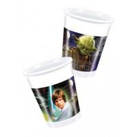 Set 8 pahare unica folosinta 200 ml - ''Star Wars''