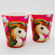 Set 10 pahare carton - ''Unicorn''