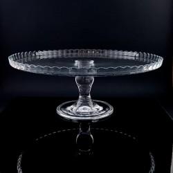 Platou de sticla cu picior - ''patisserie''
