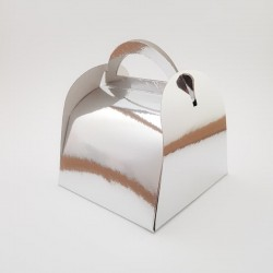 Cutie prajitura 12 x 12 cm - argintie