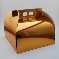 Cutie prajitura 24.5 x 24.5 cm CT1 - auriu