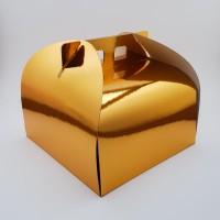 Cutie prajitura 20 x 20 cm CT1/2 - auriu
