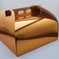 Cutie prajitura 30 x 30 cm CT4 - auriu