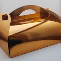 Cutie prajitura 38.5 x 28.5 cm CT5 - auriu