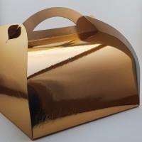 Cutie prajitura 33 x 33 cm CT9 - auriu