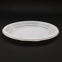 Farfurii unica folosinta 17 cm albe plate