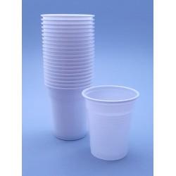 Pahare unica folosinta albe 100 ml
