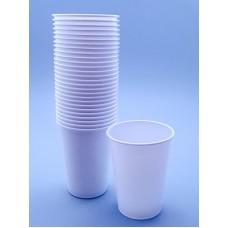 Pahare unica folosinta albe 230 ml