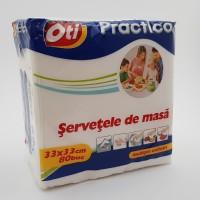 Servetele ''Practico'' 1 strat albe