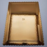 Platouri dreptunghiulare aurii