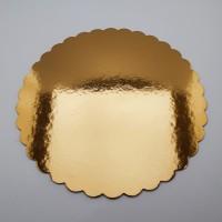 Tavite rotunde aurii festonate 24-50 cm