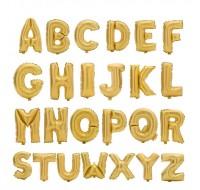 Baloane folie litera auriu