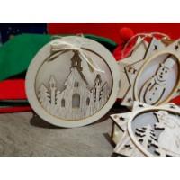Ornament LED din lemn